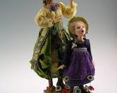 OOAK Art doll, Fairy tale Story teller