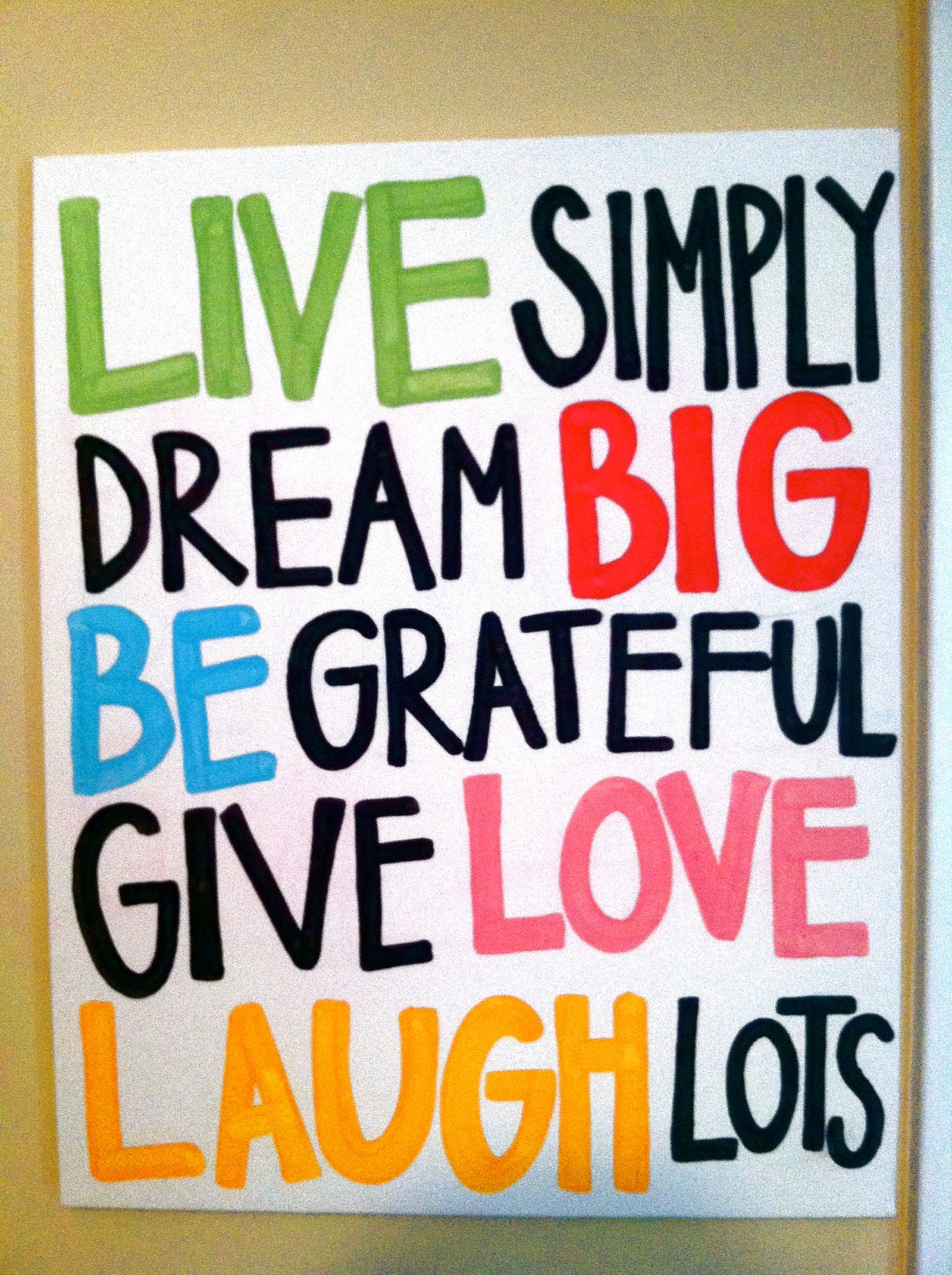 Live Laugh Love Dream Quotes: Live Simply Quote Canvas By Littlestrokes On Etsy