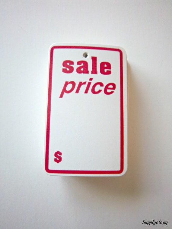 SALE PRICE Tags Lot Of 50 Large Vintage