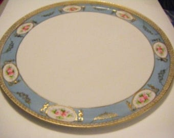 Gorgeous Antique Nippon Morimuma Brothers Handpainted Platter