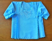 SALE Vintage Blue Embroidered Tunic (baby)