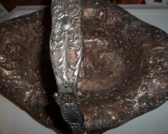 1700's  Silver with copper washed basket  Thanksgiving, Black Friday, Cyber Monday, Christmas