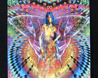 "Blotter Art / Ron LaFond ""Butterfly Swirl"" / Perforated Print"