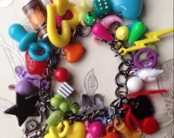 Chunky Gumball Charm Bracelet
