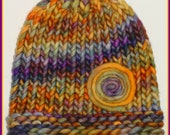 Multi Colored Knit Hat, Baby Hat, Baby Photo Prop