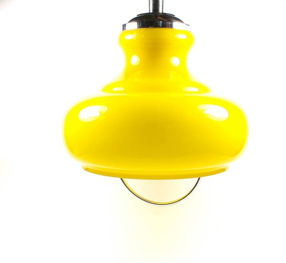 Yellow vintage light pendant kitchen