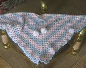 CHILD PONCHO, pancho  CROCHET, pearl and pink color