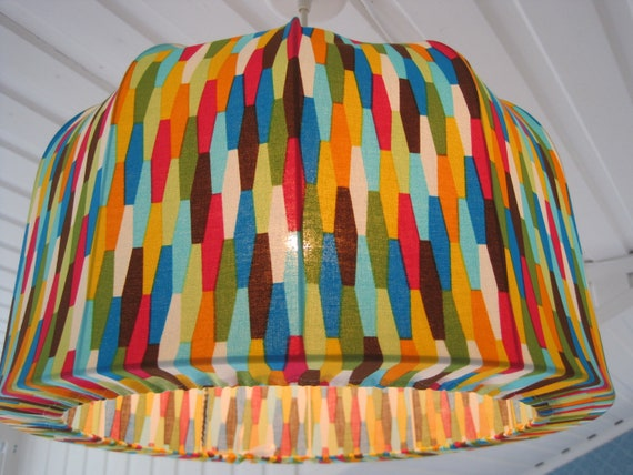 Lampshade, Pendant lamp made in Retro Style, One of a kind