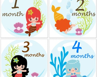 Mermaids Birthday Bodysuit Stickers