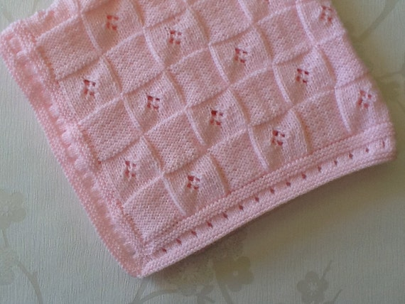 Cotton Candy Pink Baby Blanket,Handmade Baby Blanket,Ready to ship.