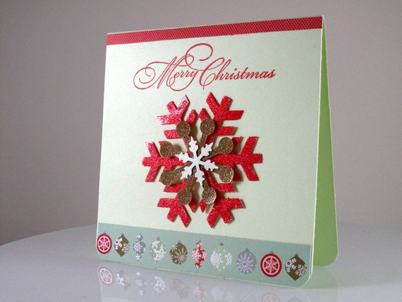 items similar to handmade 3d unique christmas card on etsy