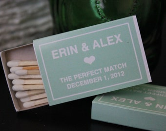25 Custom Designed Matchbox Wedding Favors