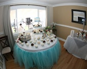 Custom Tulle Table Skirt Wedding, Birthday, New Baby
