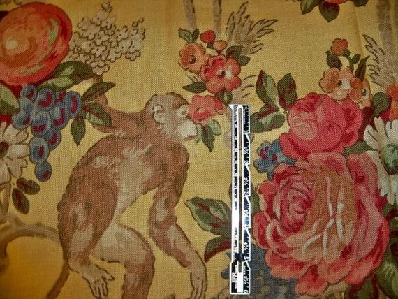 Lee jofa kravet jardin des singes monkey toile by - Toile de jardin triangulaire ...