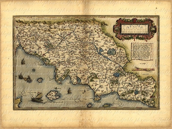 Mappa della Toscana del 1500 109 Mappa epoca Antico digitali