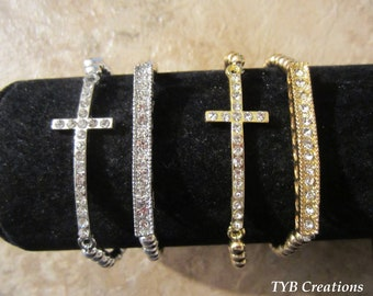 Sideways Cross Bracelet Set