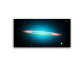 Hubble Universe Sombrero Galaxy on 22x11 PopMount Ready to Hang FREE SHIPPING