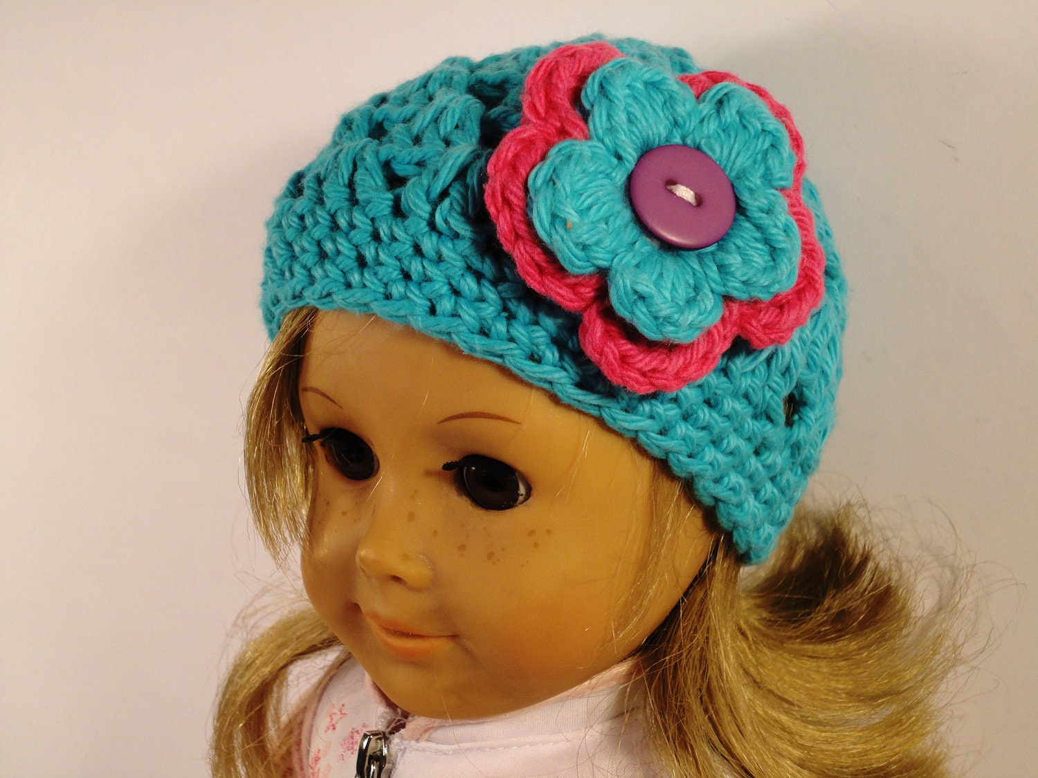 Crochet Hat Pattern American Girl Doll : Crochet Hat Pattern American Girl Pattern Fits 18