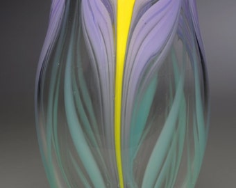 Purple Iris Vase