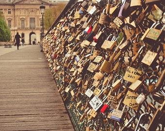 Love-Locks Bridge,Fine Art Photography,Paris,France,multiplesizes available-parisian,seine, paris,padlocks,lovers,love