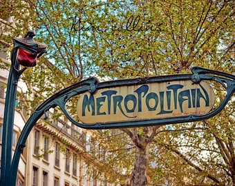 Parisian Metro Sign Color-Fine Art Photography,Paris,France,multiple sizes available,Architecture,Travel,Entrances,Subway,Hector Guimard