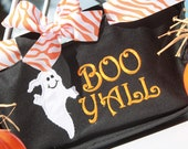 Personalized Mini Market Tote Girls Trick or Treat Halloween Bag Basket Tote Monogrammed