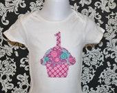 First Birthday, Cupcake Shirt, Cupcake Onesie,  Customized, Baby Shower Gift, Birthday Gift, Cupcake Onesie or Toddler T-Shirt