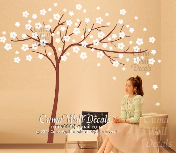 removable wall decals flower wall sticker tree wall mural home decor