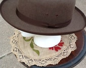 Reserved.Vintage Derby Hat 1930s Includes Hat Box