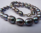 Cultured-Black Pearl Necklace