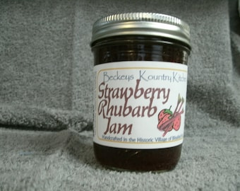 Jam. Strawberry Rhubarb jam. Homemade Rhubarb Strawberry jam. Handcrafted,deliciously Sweet, jam & jelly