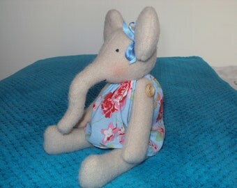 Elephant with Cath Kidston Blue Rosali Dress. Can be personalised