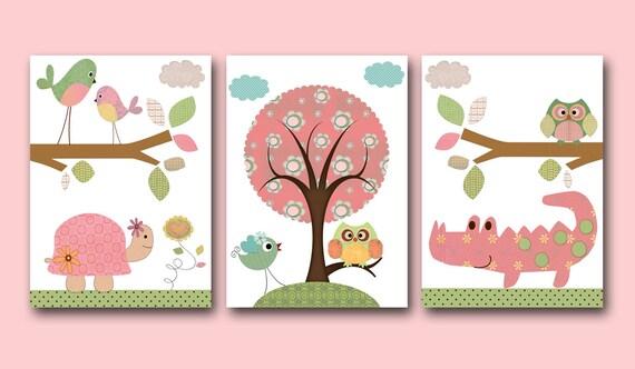 Baby Girl Nursery Decor Kids Wall Art Baby Decor Nursery Owl