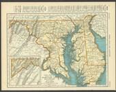 Vintage Map of Maryland Delaware From 1937 Original