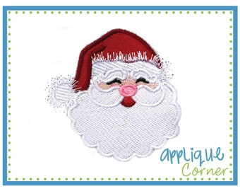 886 Christmas Santa Filled emboridery design in digital format for embroidery machine by Applique Corner