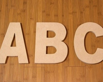 """8"""" Wooden Letters - Unpainted (Uppercase)"""