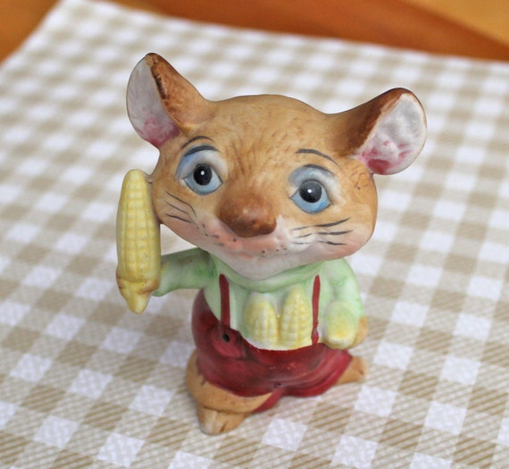 Items Similar To Vintage Homco Home Interiors Farm Mouse
