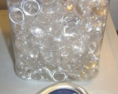 Entire Jar of clear plastic 1/2 inch domed cabochons