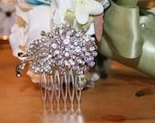Vintage Inspired Rhinestone Bridal Comb