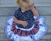 Ari's Angels 4th of July Stars and Stripes ULTIMATE Full Twirling Skirt Independence Day