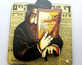 Judaica 3-D Wall Picture ART IRWIN Vintage Jewish Rabbi Scholar