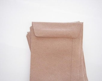 Natural Brown Kraft Envelopes - 50 / Postcard envelope.