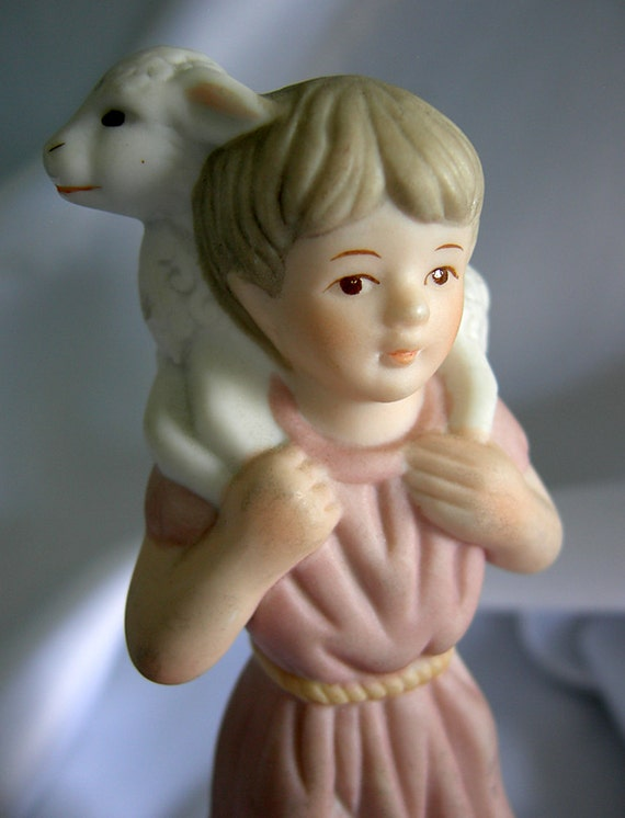 Shepherd Boy Fine Porcelain Figurine - Hallmark LEFTON Christopher Collection - Vintage Circa 1982