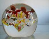 Crystal Art Glass Paperweight
