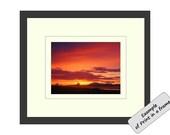 Photograph Card  Orange Sunset, Scotland 7x5 Blank Greeting Card