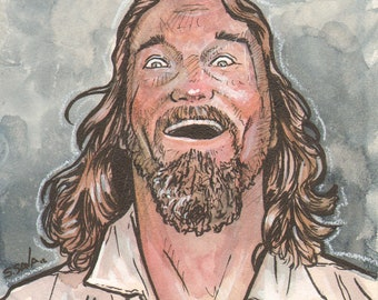 "It's ""The Dude"" from The Big Lebowski Original Watercolor..."