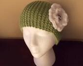 Stylish Handmade Headband Knit Head wrap Knit Ear Warmer Earwarmer with Flower - Soft Warm Knit FREE SHIPPING