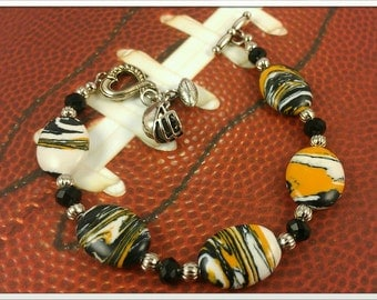 Inspired By The Pittsburgh Steelers Bracelet