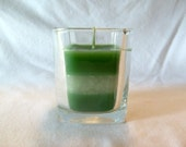 Green Peppermint Paraffin Candle
