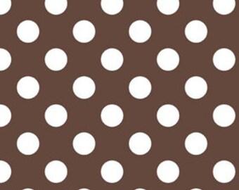 Medium Dots in Brown Riley Blake 1/2 Yard Cut